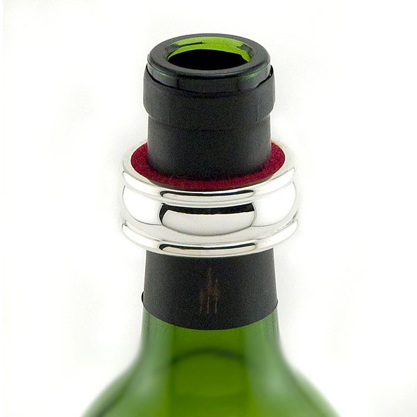Silver-Plated Wine Bottle Drip Ring