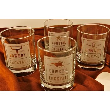 Rodeo Cocktail Glasses (set of 4)
