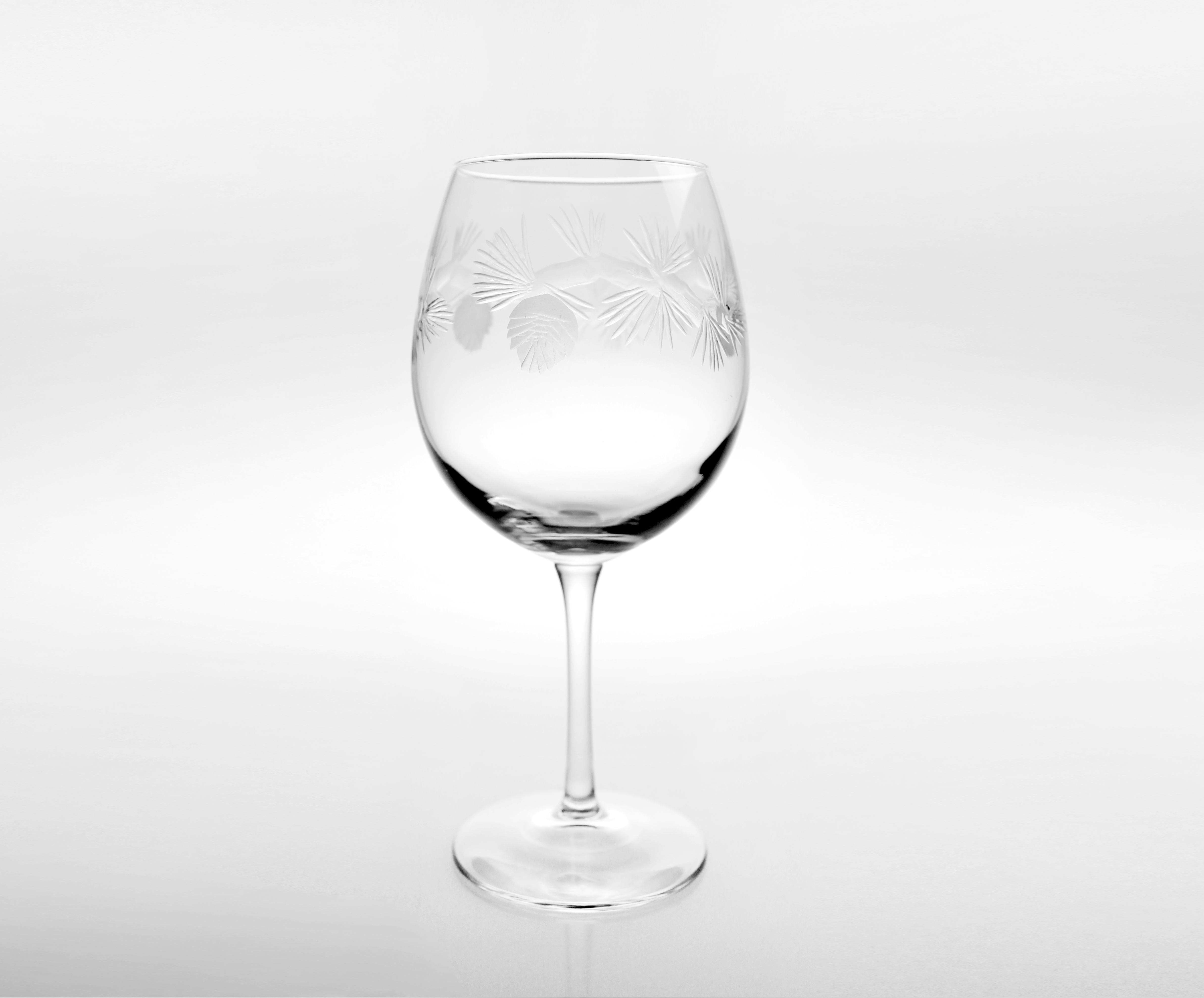 Rolf Glass Icy Pine Balloon Wine Glasses (set of 4)