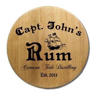 Captain's Rum Barrel Head Sign
