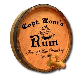 Captain's Rum Quarter Barrel Sign