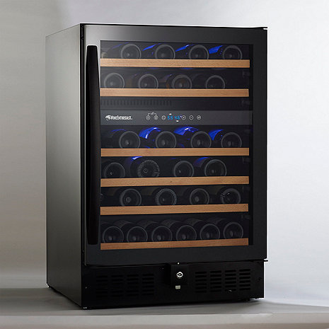 Dual Temperature  Zone Wine Refrigerator with Touchscreen Controls