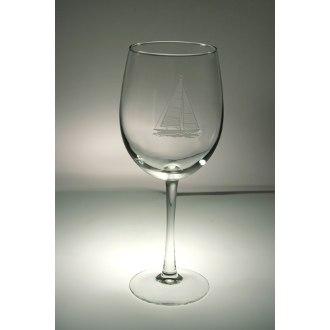 Sailboat AP Large Wine Glasses (set of 4)