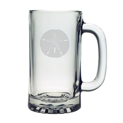 Sand Dollar Etched Beer Mugs (set of 4)