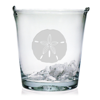 Sand Dollar Etched Ice Bucket