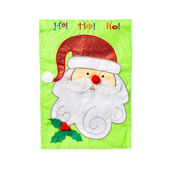 Garden Applique Christmas Santa Garden Flag