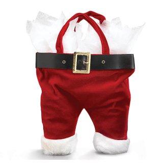 Santa Pants Velour Double Wine Bottle Bags (set of 102)