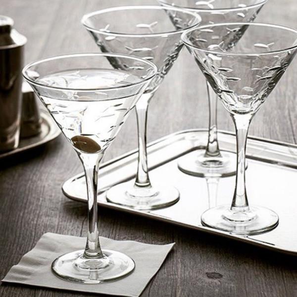 School of Fish Martini (10oz) Set of 4