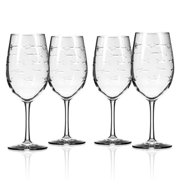 School of Fish AP Large Wine Glasses (set of 4)