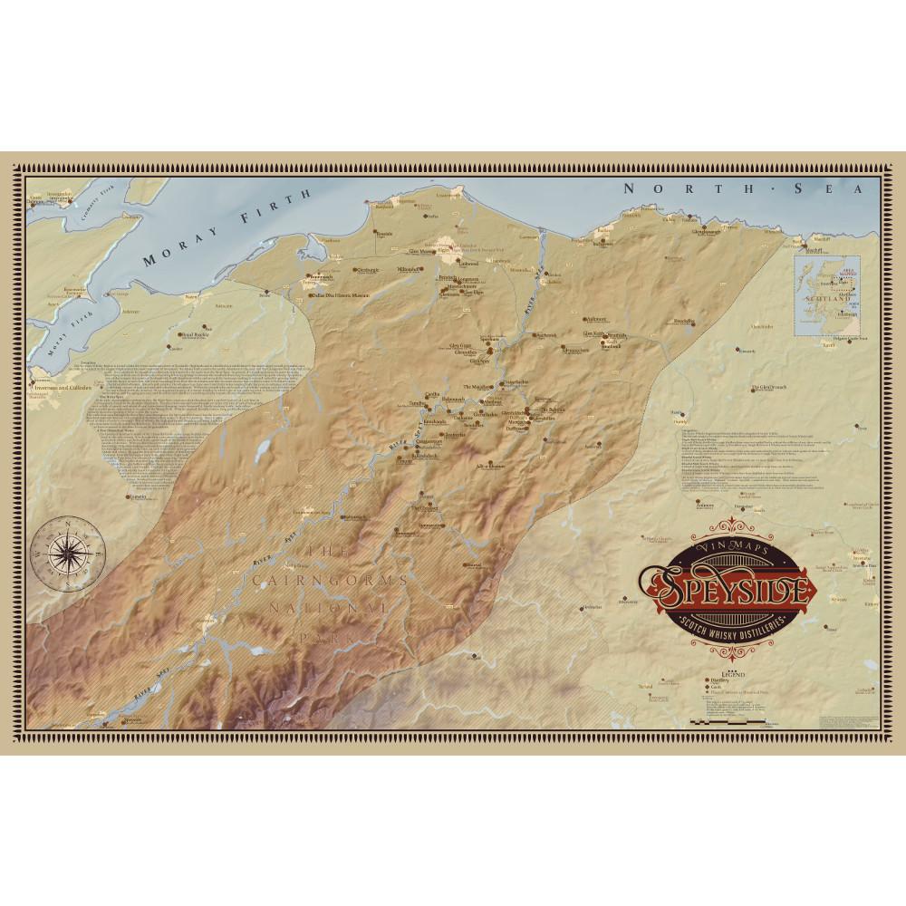 Speyside Scotch Distilleries Map