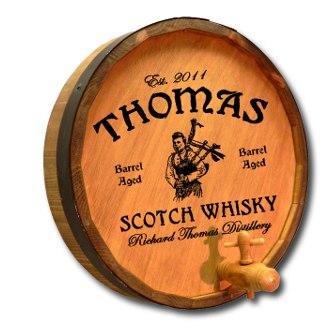 Scotch Whiskey Quarter Barrel Sign