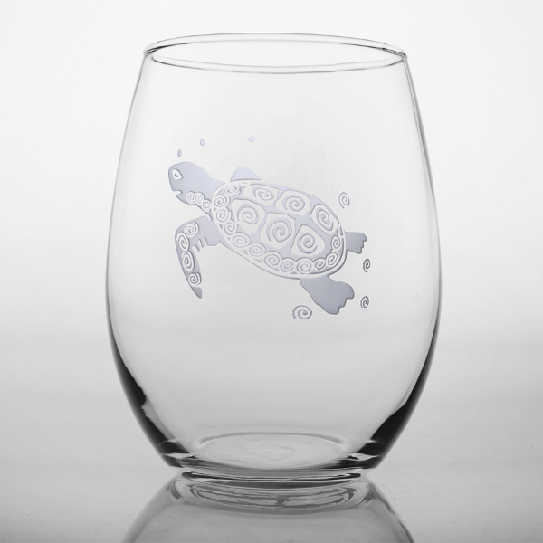 Sea Turtle Red Wine Tumblers (set of 4)