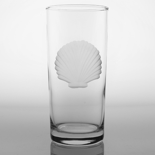 Engraved Seashell Cooler Glasses (set of 4)