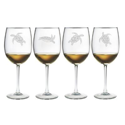 Sea Turtles All Purpose Wine Glasses (set of 4)