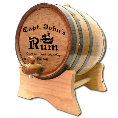 Personalized Ship's Captain Oak Aging Barrel