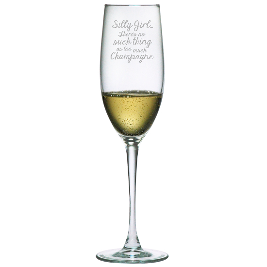 Silly Girl Champagne Flutes (set of 4)