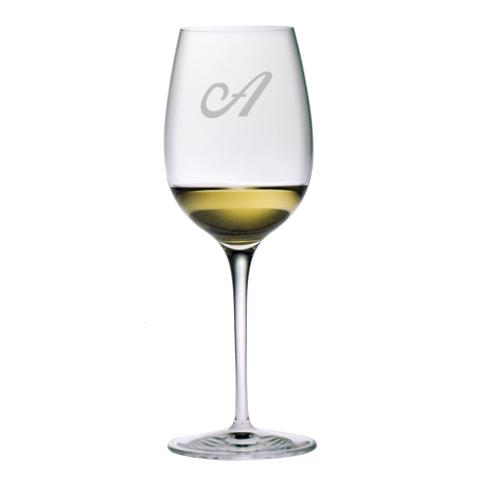 Single Letter Monogram Chardonnay Glasses (set of 4)