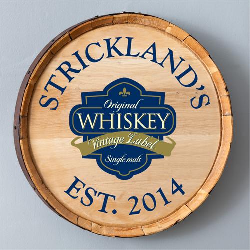 Single Malt Whiskey Barrel Sign - Personalized