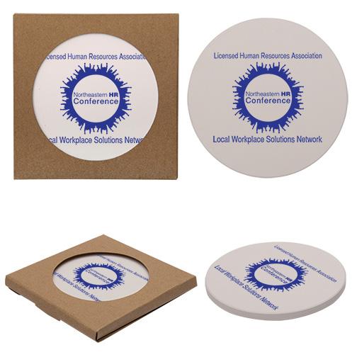 Company Logo Round Stone Coasters