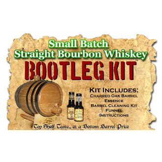 Small Batch Straight Bourbon Whiskey Making Bootleg Kit