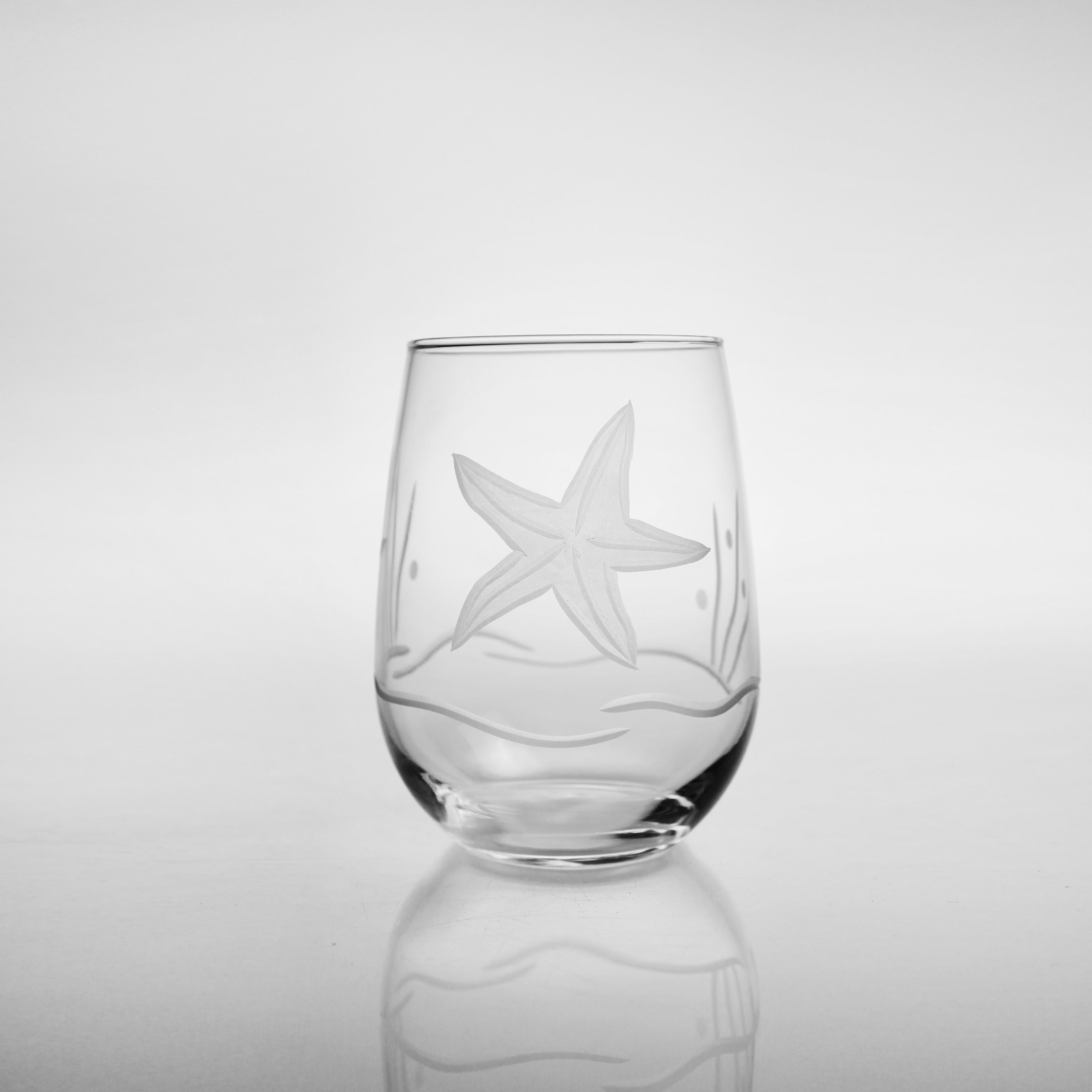 Starfish White Wine Tumblers (set of 4)