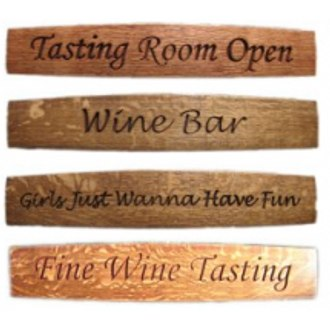 Custom Barrel Stave Sign