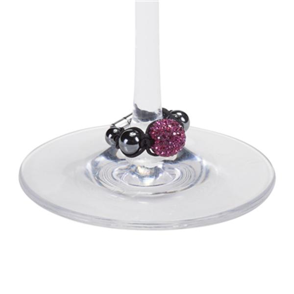 Vintage 82 Stem Beads Wine Glass Charms, Halcyon