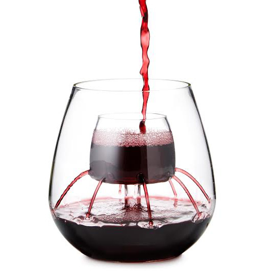 Stemless Aerating Wine Glasses with Built In Aerator (set of 2)
