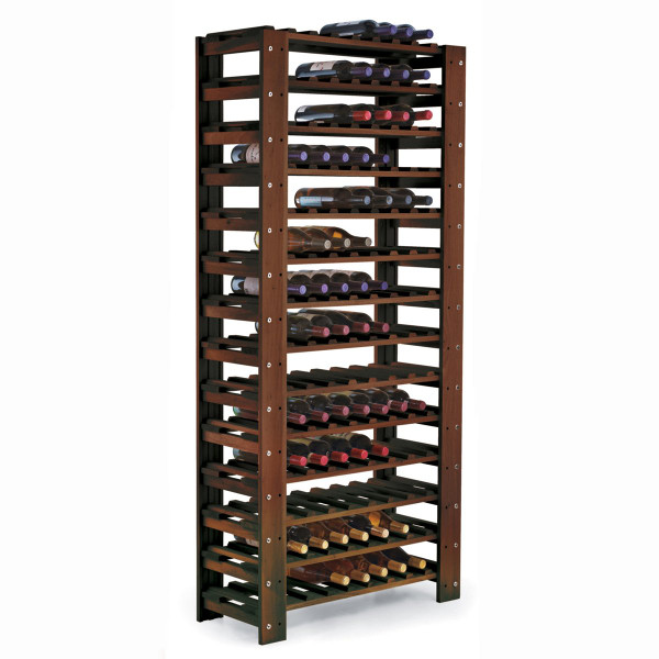 Swedish Pine 126 Bottle Wine Rack (Walnut)