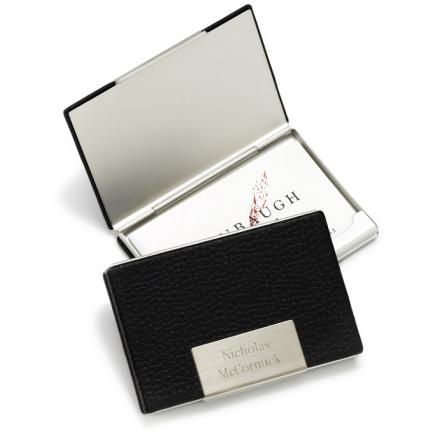 Leather Business Card Case - Engraved