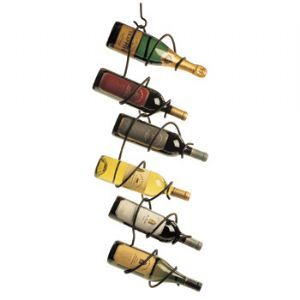 Climbing Tendril Hanging 6 Bottle Wine Rack, Black