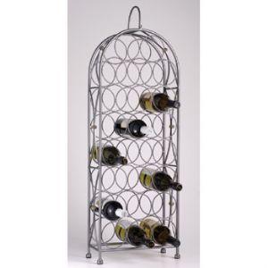 Bordeaux Chateau 23 Bottle Wrought Iron Wine Rack