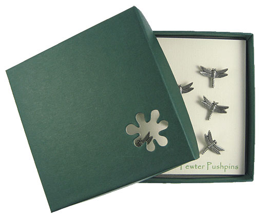 Dragonfly Pewter Pushpins