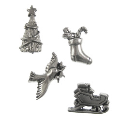 Christmas Pewter Pushpins