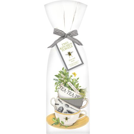 Herbs Teacup Flour Sack Towel Set