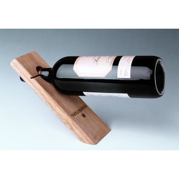 Single Bottle Wood Stand Balancer, Option to Personalize