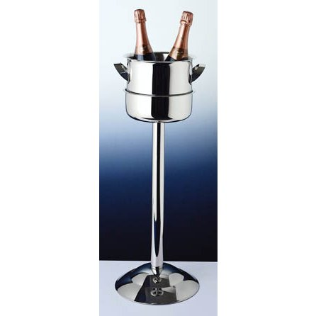 Triomphe Wine Cooler 18/10 Stainless Steel with Stand (2 Piece Set)