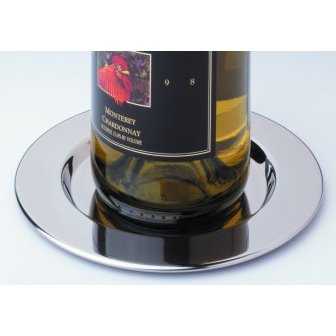 Pratique Wine Bottle Coasters Stainless Steel (set of 4)