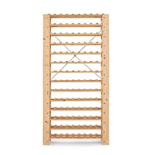 Swedish Pine 126 Bottle Wine Rack (Natural)