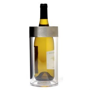 Regale Double Wall Wine Cooler with Brushed Stainless Steel Rim