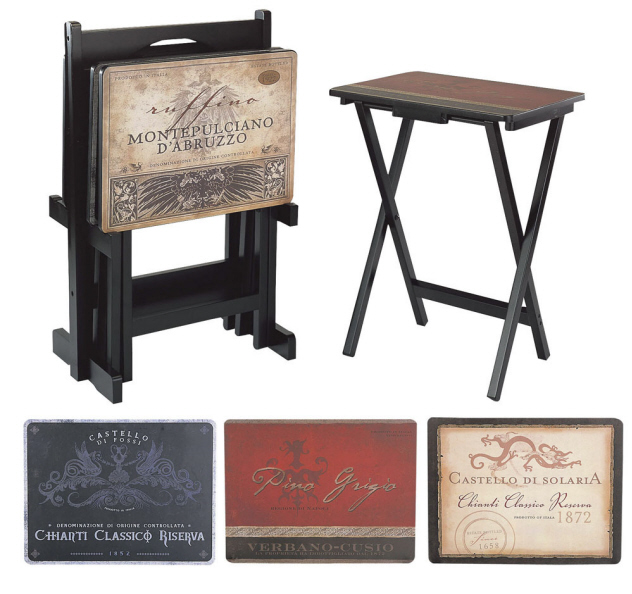 Tuscan Folding Wine TV Stands