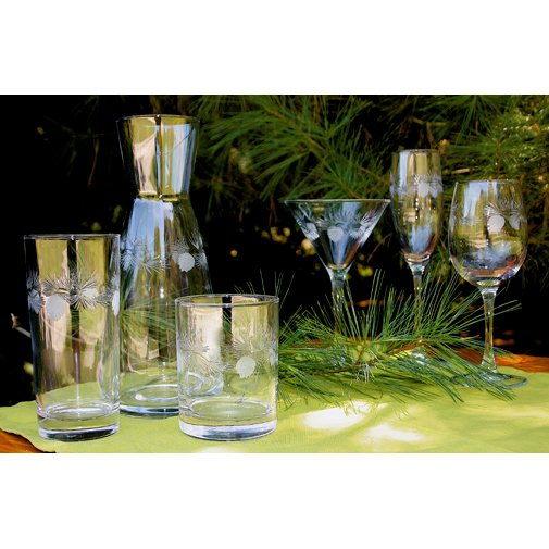 Icy Pine Frosted Glasses