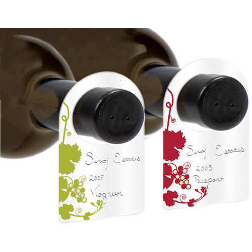 50 Decorative Wine Cellar Bottle Tags with Pen