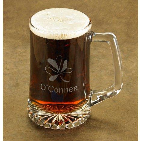 Personalized Shamrock Beer Mug