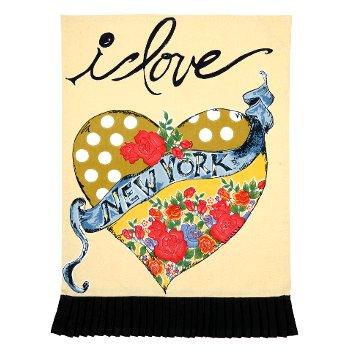 I Love New York Kitchen Towel By Julia Junkin