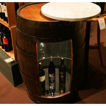 Oak Barrel Bar Cabinet Furniture with Upgraded Features