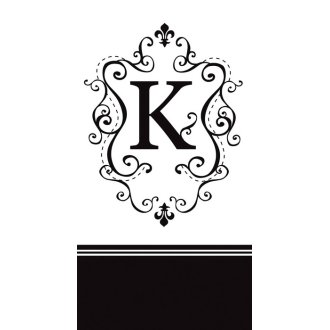 Monogram Paper Guest Napkins (Choose any letter!)