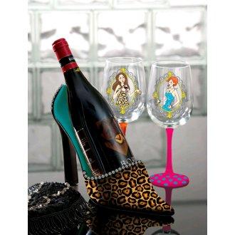 Leopard High Heel Wine Bottle Holder