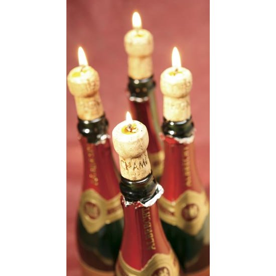 Champagne Cork Candles (set of 4)