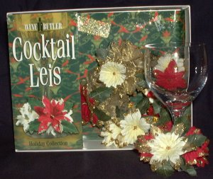 Cocktail Leis, Holiday Wine Glass Charms